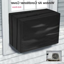 Black Outdoor Window Air Conditioner Cover, Window Unit AC C