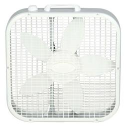 Box Window Fan 20 in. 3-Speed Quiet Compact Portable Energy