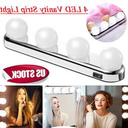 New 4 LED Portable Vanity Mirror Studio Glow Make Up Bright