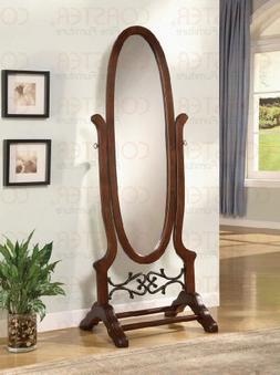 Cheval Freestanding Floor Mirror in Walnut wood finish