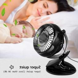 Clip On Mini Electric Cooling Fan Portable Oscillating Table