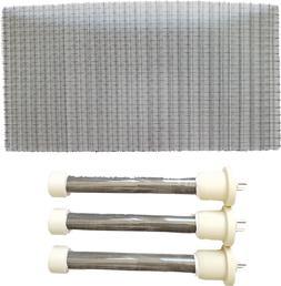 Complete Set of 3 New Longer Life Bulbs/Heating Elements 4 E