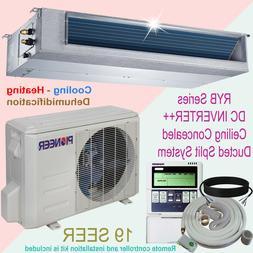 Pioneer Concealed Duct Mini Split Inverter Air Conditioner w