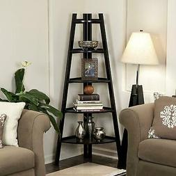 Corner Shelf 5 Tier Shelves Stand Storage Display Book Rack