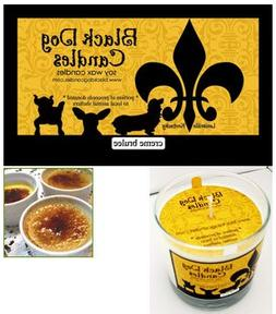 Black Dog Candles Creme Brulee Soy Wax Candle, 9 oz glass tu