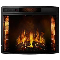 Regal Flame 28 Inch Curved Ventless Heater Electric Fireplac