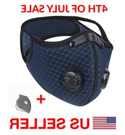 Cycling Face Mask With Active Carbon Filter Breathing Valves