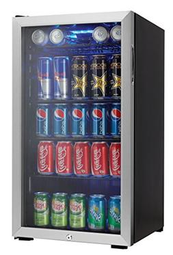 """Danby DBC120BLS 18"""" Beverage Center with 3.3 Cu. Ft. Capacit"""