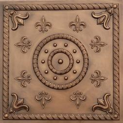 Decorative Ceiling Tiles #27 in Antique Copper 24x24 Fire Ra