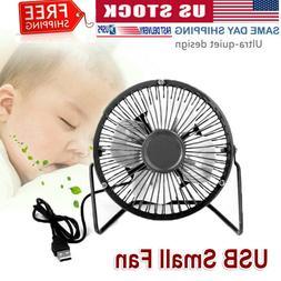 Desk Table Fan Personal USB Small Air Circulator Quiet Dorm