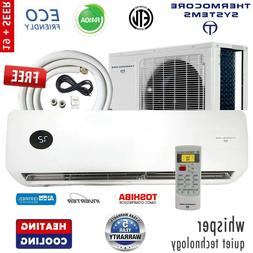 Ductless Mini Split Air Conditioner Inverter Heat Pump 17-19