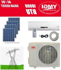 Ductless Mini Split Solar Assist Air Conditioner Heat Pump Y