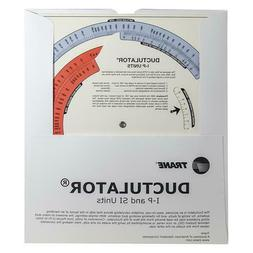 Ductulator Duct Sizing Tool / Slide Chart Graph - Includes P
