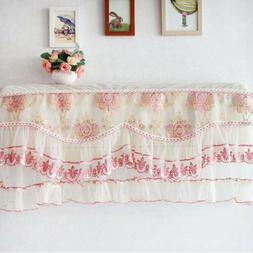 Dustproof Lace Air Conditioner Cover Floral Home Dust Covers