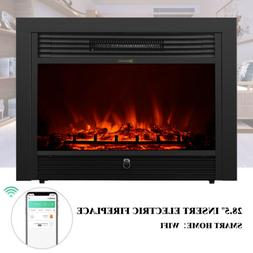 """Embedded 28.5"""" Electric Insert Heater Fireplace Log Flame wi"""