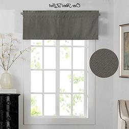 H.VERSAILTEX Energy Efficient Rich Faux Linen Curtain/Rod Po