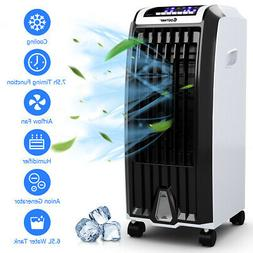 Costway Evaporative Portable Air Cooler Fan Anion Humidify W