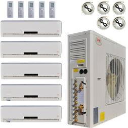 YMGI Five 5 Zone Ductless Mini Split Air Conditioner Heat Pu