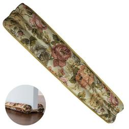 "Evelots Floral Door Draft Stopper, Energy Saving 36"" L, W/ 1"
