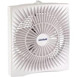 "Holmes HABF120WN 10"" Personal Size Box Fan, Plastic, White"