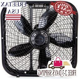 HBF2001DP-BM 20-Inch Box Fan,Black