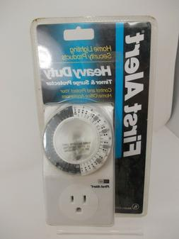 First Alert Heavy Duty Timer and Surge Protector Air Conditi