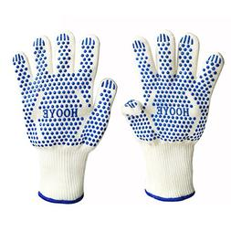 hooye Heat Resistant BBQ Grill Gloves for Kitchen and Outdoo