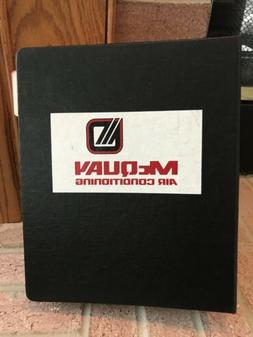 HUGE McQuay Air Conditioning Technical Manuals Binder Catalo