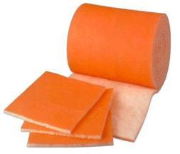 HVAC/Air Filter Media Roll, Orange/White MERV8 Polyester Med