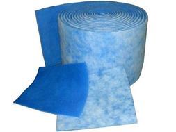HVAC / Air Filter Media Roll , Blue / White MERV6 Polyester