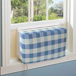 Jeacent Indoor Air Conditioner Cover Double Insulation, Blue