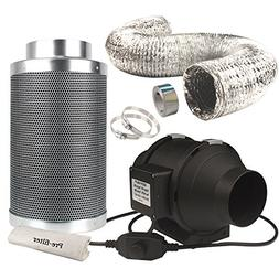 Casolly 6-Inch Inline Fan Carbon Filter Fan Combo 315 CFM Fa