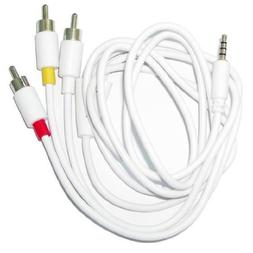 iPhone & iPod Compatible RCA AV Cable