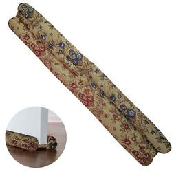 Evelots Jacquard Decorative Door Draft Stopper, Energy Savin