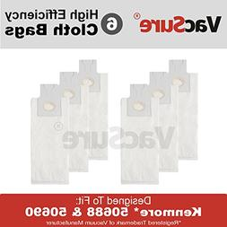 Kenmore HEPA Cloth Vacuum Bags TYPE O & U for Upright Vacs,