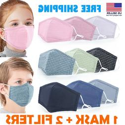 Kids Cotton Face Mask Reusable Washable outdoor Fabric Cover