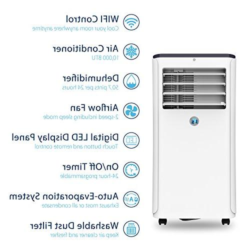 JHS 10,000 Air Conditioner WIFI Control A016-10KR/B1 Unit Small Air with Timer, and Fan