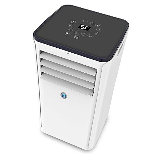 JHS BTUs Air Control Mobile App, A016-10KR/B1 AC Unit Small Air Cooler with Timer, Sleep and