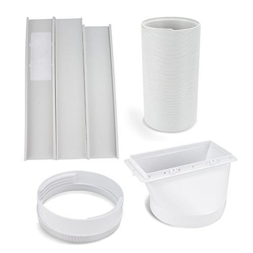 DELLA Fan 10000 BTU Dehumidifier A/C Remote Control Included Window White