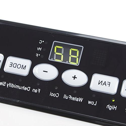 DELLA Conditioner Cooling Fan 10000 Portable Dehumidifier Remote Control Included White