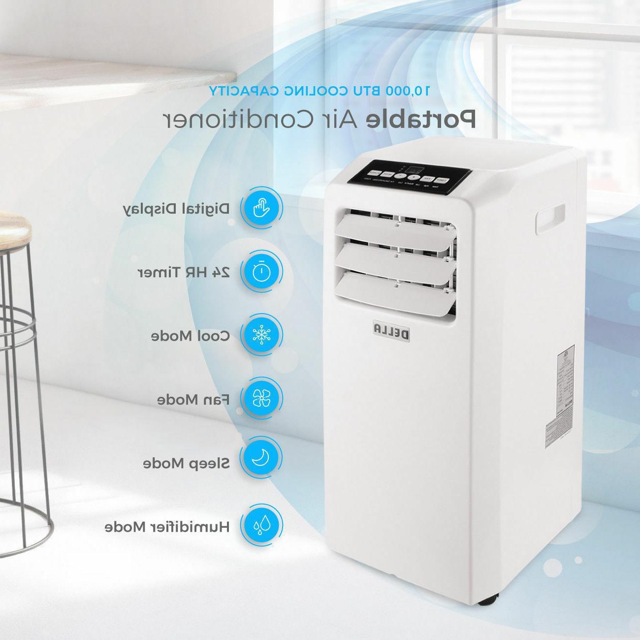 DELLA Air Cooling Fan 10000 BTU Dehumidifier Included Window White
