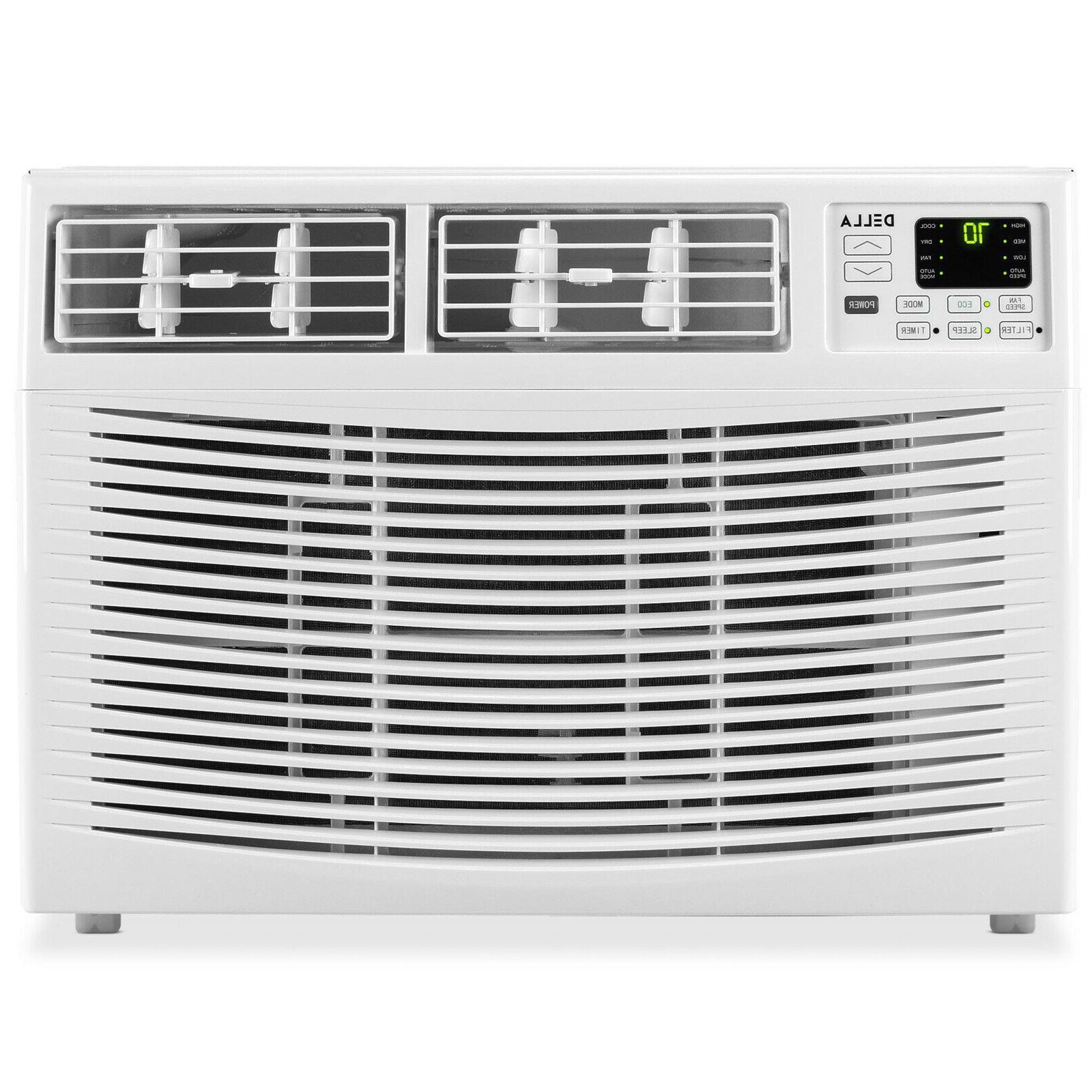 DELLA 10,000 Window Air Up to 115V Energy Star Mini Compact w/Remote