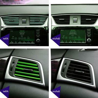 10Pcs Auto Car Accessories Colorful Air Conditioner Air Outl