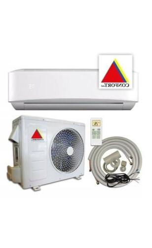 12,000 BTU Ductless Conditioner, Heat Split 110V With/KIT