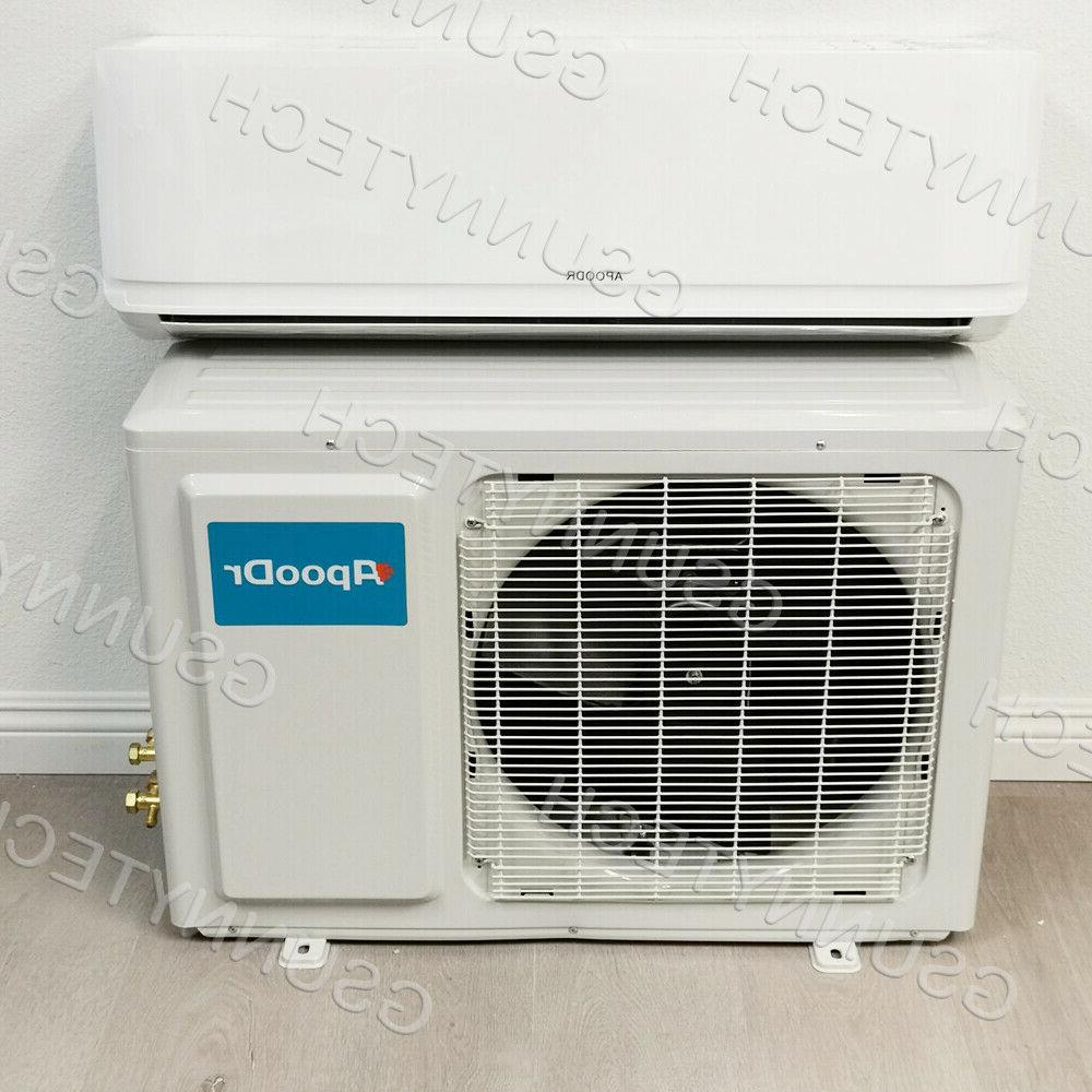 12,000 BTU Ductless Conditioner Pump Split Ton With/KIT