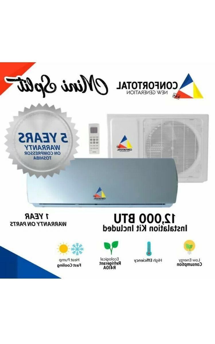 12,000 System Air Mini split 110V Ton w/kit