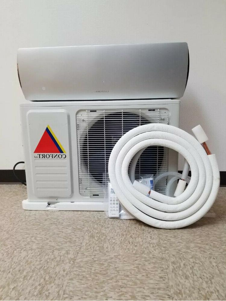 12,000 BTU Ductless Air Conditioner,Heat split 110V Ton w/kit