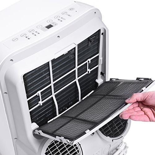Ivation 12,000 BTU Portable Air – Dual-Hose AC Unit & w/Digital Display, Function –