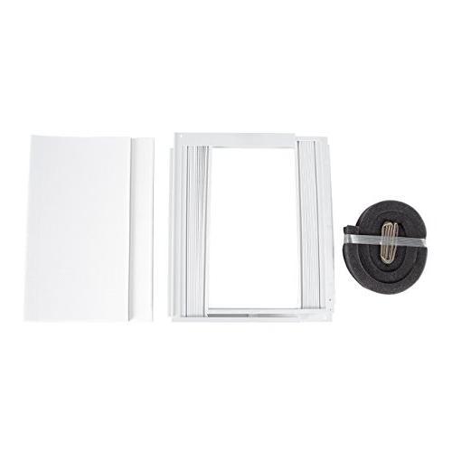 DELLA 10,000 BTU Window Air Room to Feet 115V Star Compact White