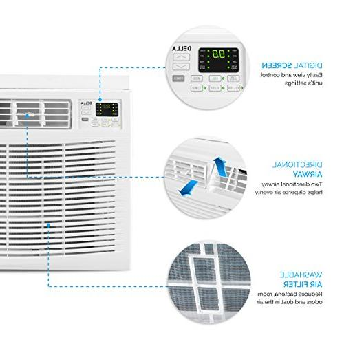 DELLA Air Conditioner Energy Star Control, White